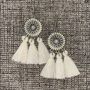 Ivory long earrings